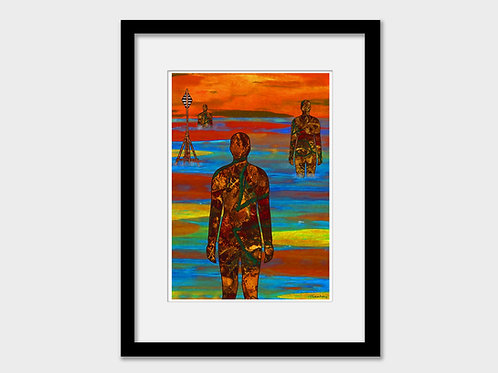 Crosby Iron Men, Another Place, Liverpool Print