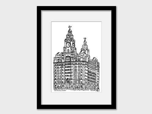 Royal Liver Building (Two Bird) Liverpool Print