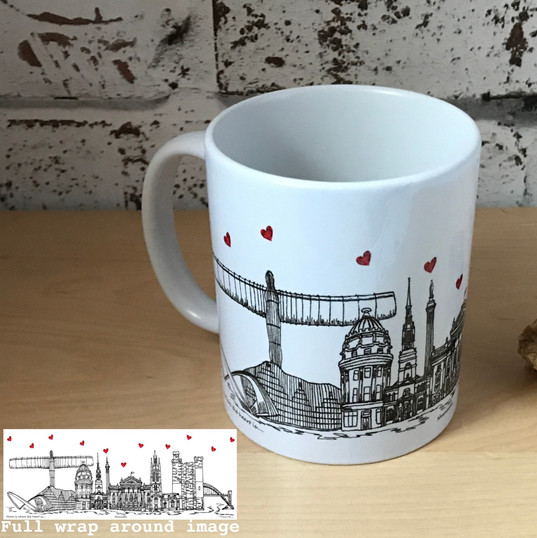 Newcastle mug - Tina Leahey Designs