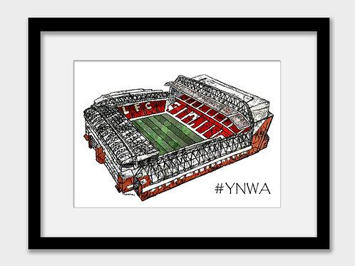 Liverpool FC Anfield Stadium, YNWA