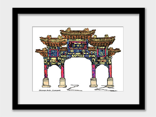 Liverpool Chinese Arch wall art print