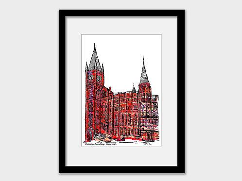 Victoria building, Liverpool University JMU and VGM print