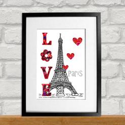 Love Paris Print - Tina Leahey