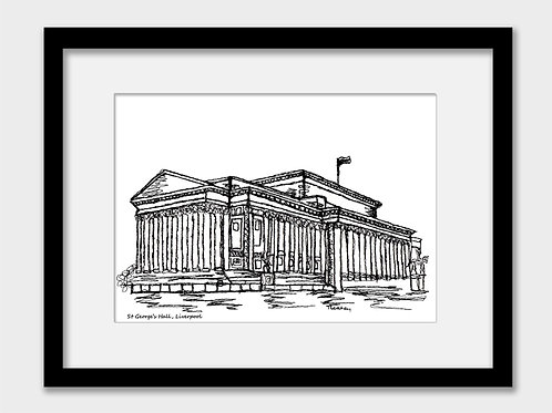 Liverpool St George's Hall print