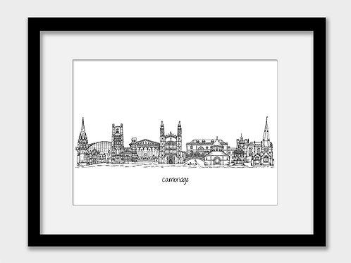 Cambridge print, black and white, perfect gift