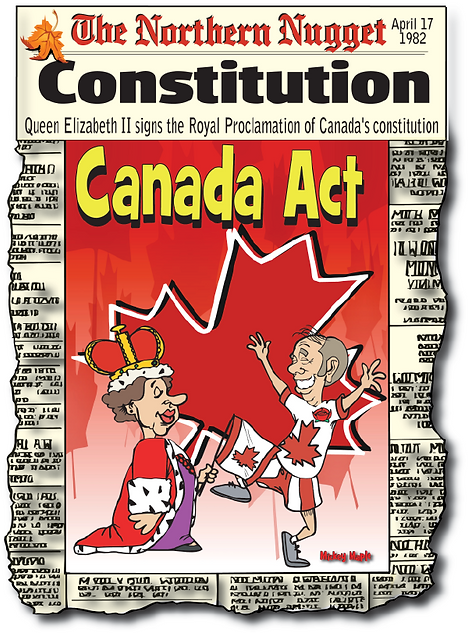 cartoon of Royal Proclamation QEII and P