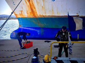 CDS Dive Team performing UWILD operations for Moby Lines @ Olbia Commercial Harbour