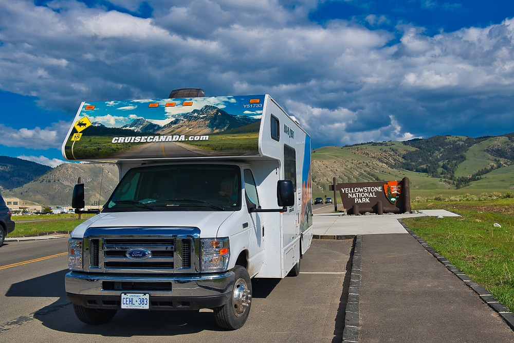 Motorhome em Yellowstone