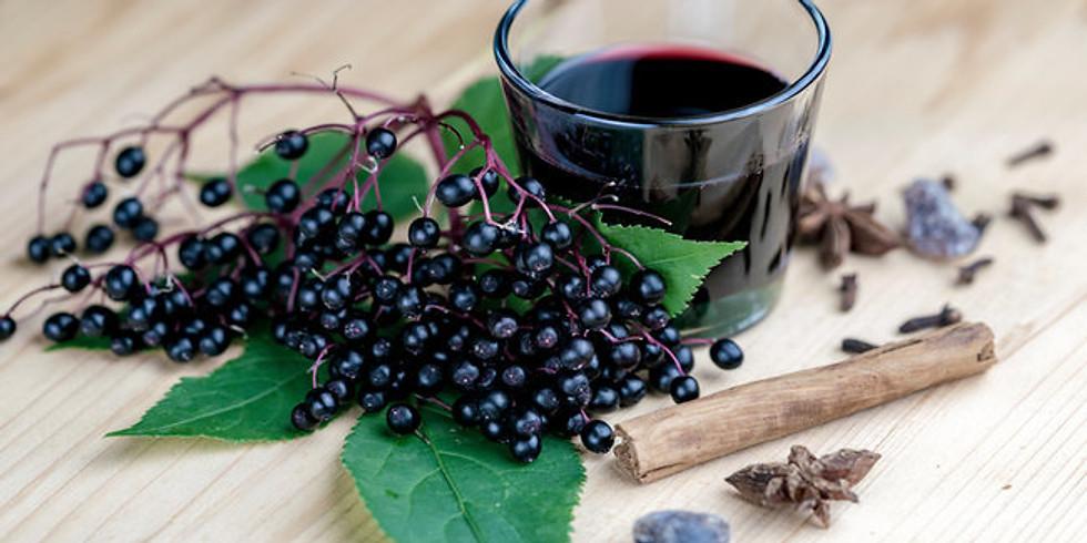 Herbal Medicine Cabinet IV: Canning Elderberry Syrup