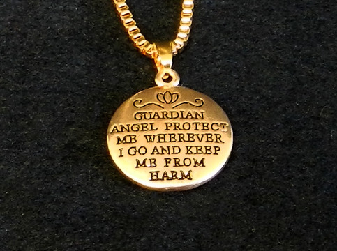 Guardian Angel Protection Necklace.
