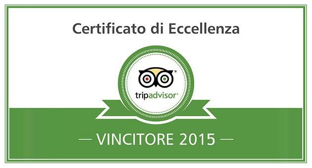 Certificato D'Eccellenza 2015!