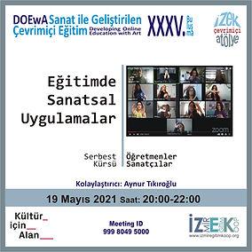Eğitimde Sanatsal Uygulamalar - İzmir Eğitim Kooperatifi Çevrimiçi Atölye