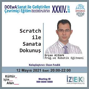 İzmir Eğitim Kooperatifi Çevrimiçi Atölye - Scratch ile Sanata Dokunuş - Erşan Altürk