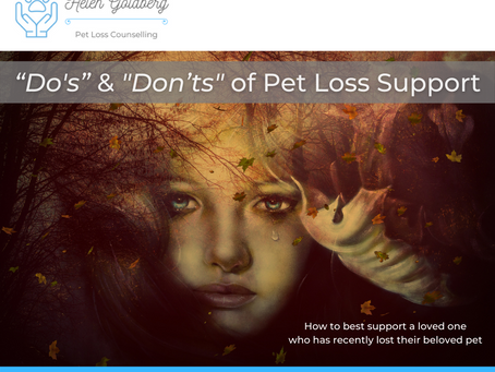 """Do's"" & ""Don'ts"" of Pet Loss Support"