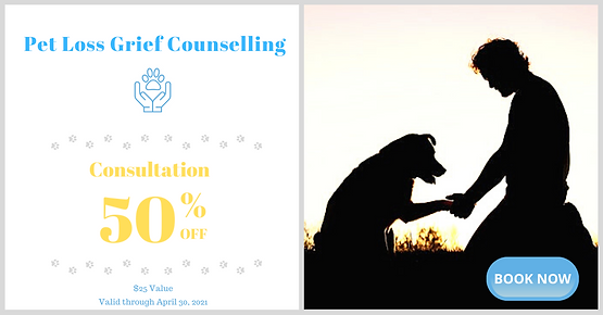 Pet Loss Grief Counselling_April Coupon.