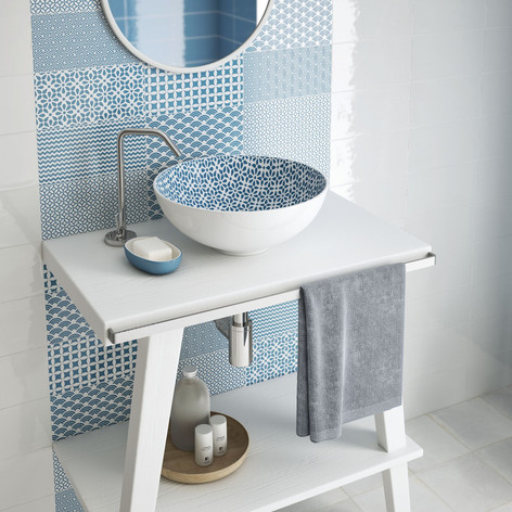 Ibiza Decor Azul Tile | Ibiza Basin
