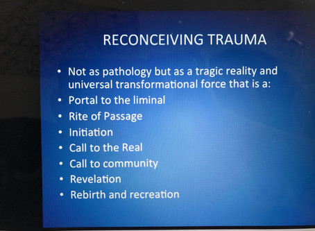 Reconceiving trauma, part 1: universal transformational force