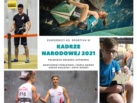 Zawodnicy KS Sportiva w Kadrze Narodowej 2021
