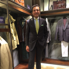 Waiting for a client at Bergdorf Goodman 2016