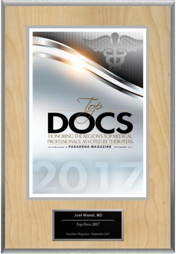 Pasadena Magazine Top Doc 2017