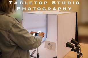 Tabletop Studio Photography Promo Image.
