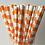 Paille en papier orange, anniversaire, fête, décoration, suisse