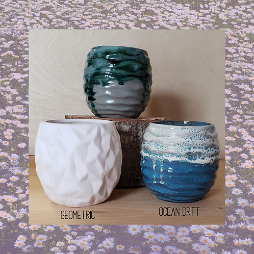 Package Deal - 2 planters with Specialty Glaze