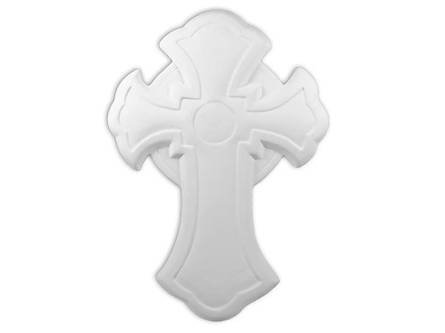 "Deco Cross Plaque - 11"" X 8"""
