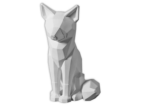 """Faceted Fox - 9.5"""""""