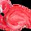 "Thumbnail: Flamingo Dish - 10"" X 7"""