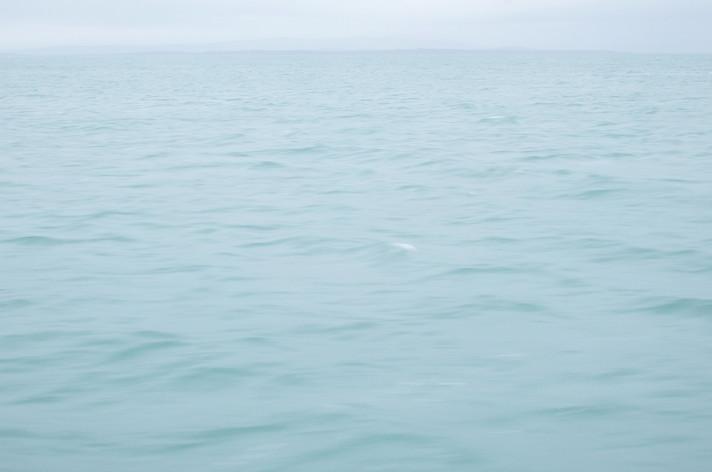 曇り色の海