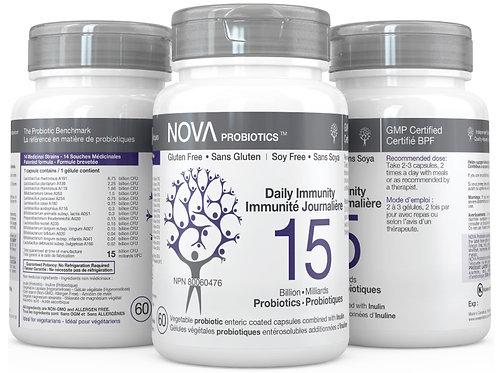 NOVA PROBIOTICS - Daily Immunity 15