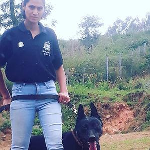 Female K9 Security Handler