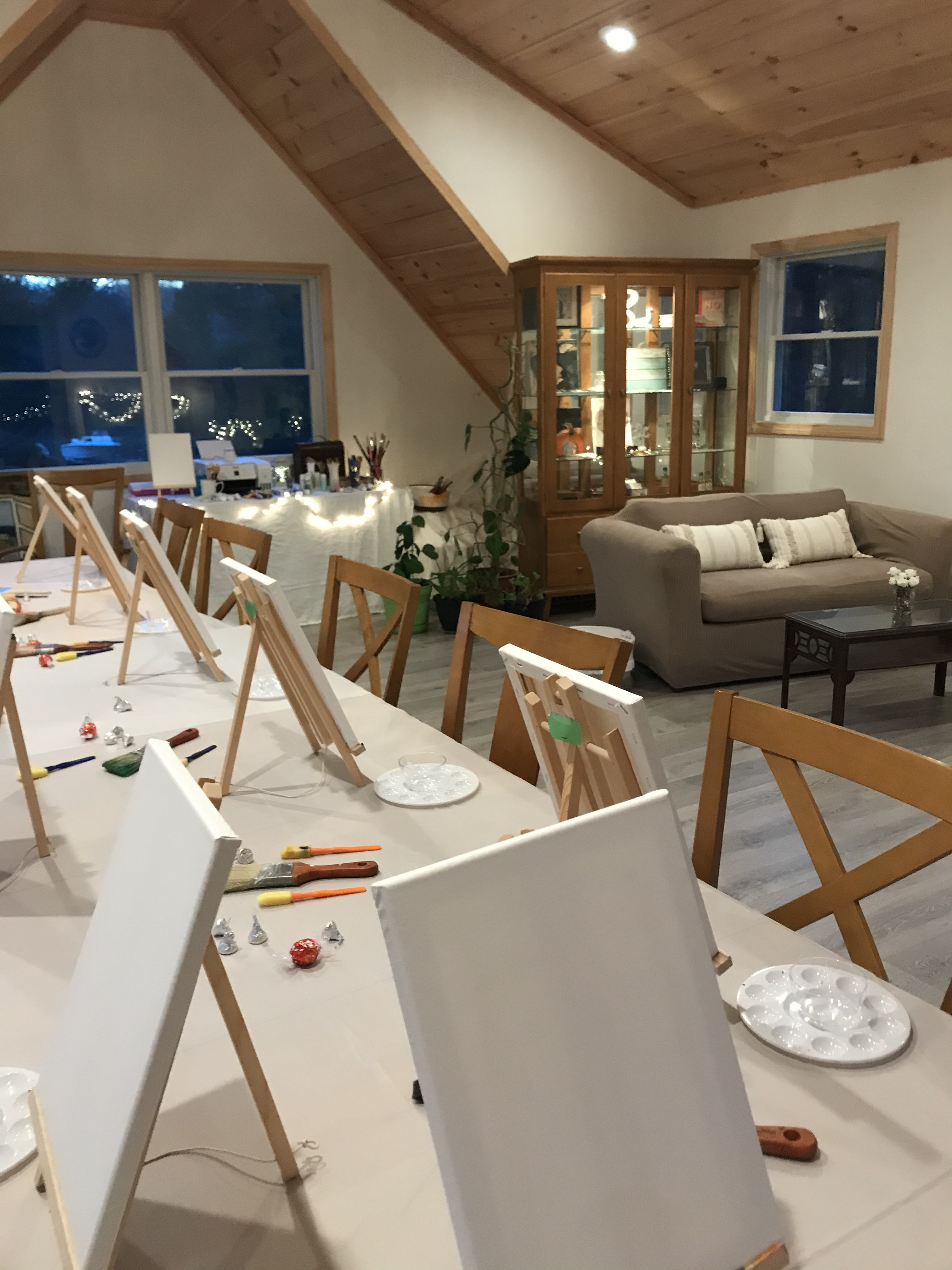 Inside ROOT Design's Studio on a Paint & Sip Night
