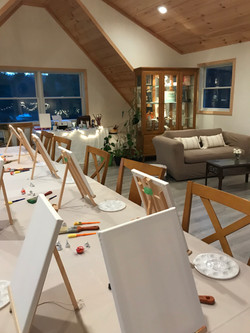 Inside ROOT Design's Studio on a Paint & Sip Night