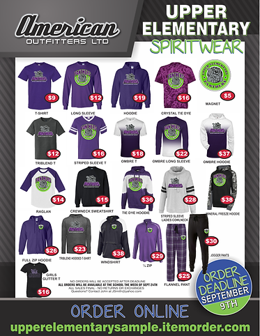 spirit wear school