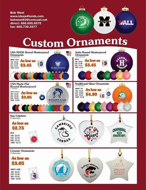 school custom ornaments