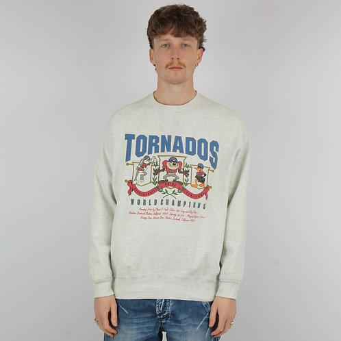 Vintage Grey Looney Tunes Tornados Sweatshirt