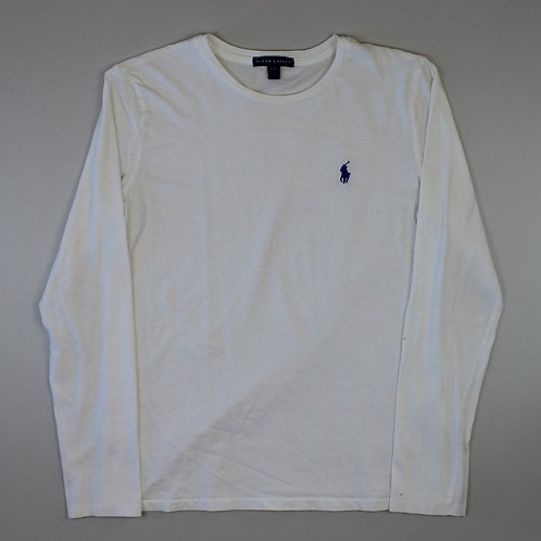 Ralph Lauren White Long Sleeved T-Shirt
