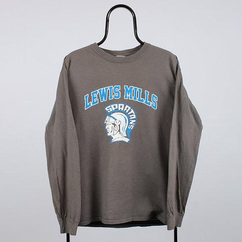 Vintage Brown Lewis Mills Long Sleeved TShirt