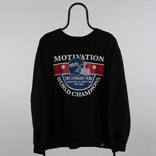 Vintage Black Motivation World Champions Sweatshirt