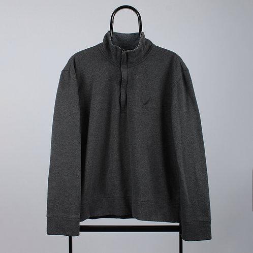 Nautica Vintage Grey 1/4 Zip Sweatshirt
