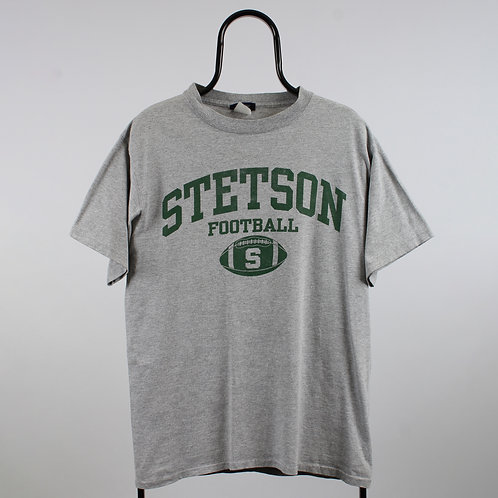 Vintage Grey Stetson Football TShirt