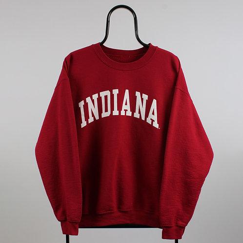 Vintage Maroon Indiana Spell Out Sweatshirt