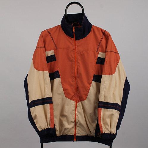 Vintage 80s Orange and Purple Windbreaker Jacket