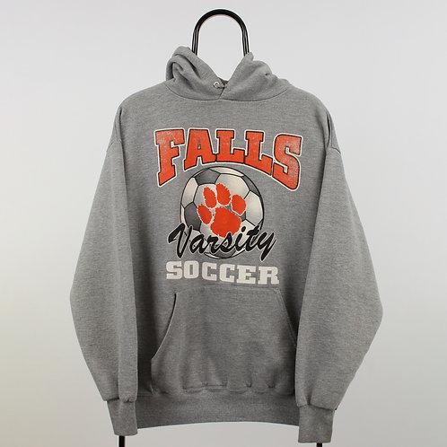 Vintage Grey Falls Soccer Hoodie