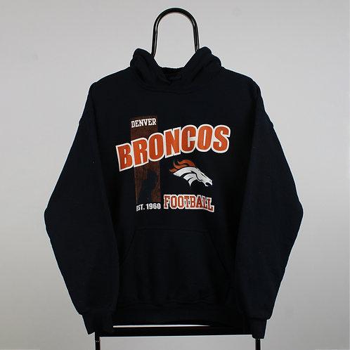 Vintage NFL Navy Denver Broncos Hoodie