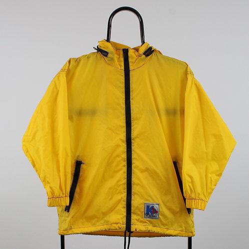 K-Way Vintage Yellow Windbreaker Jacket