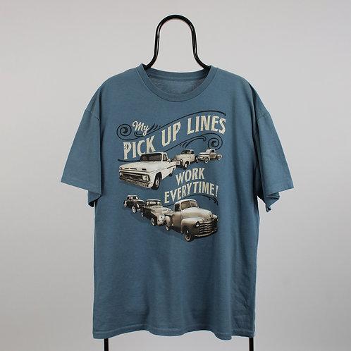 Vintage Blue Pick Up Truck Comedic TShirt