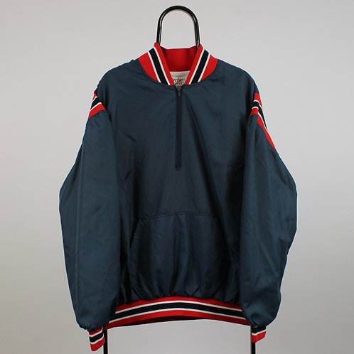 Vintage 90s Navy 1/4 Zip Smithtown Baseball  Tracksuit Jacket